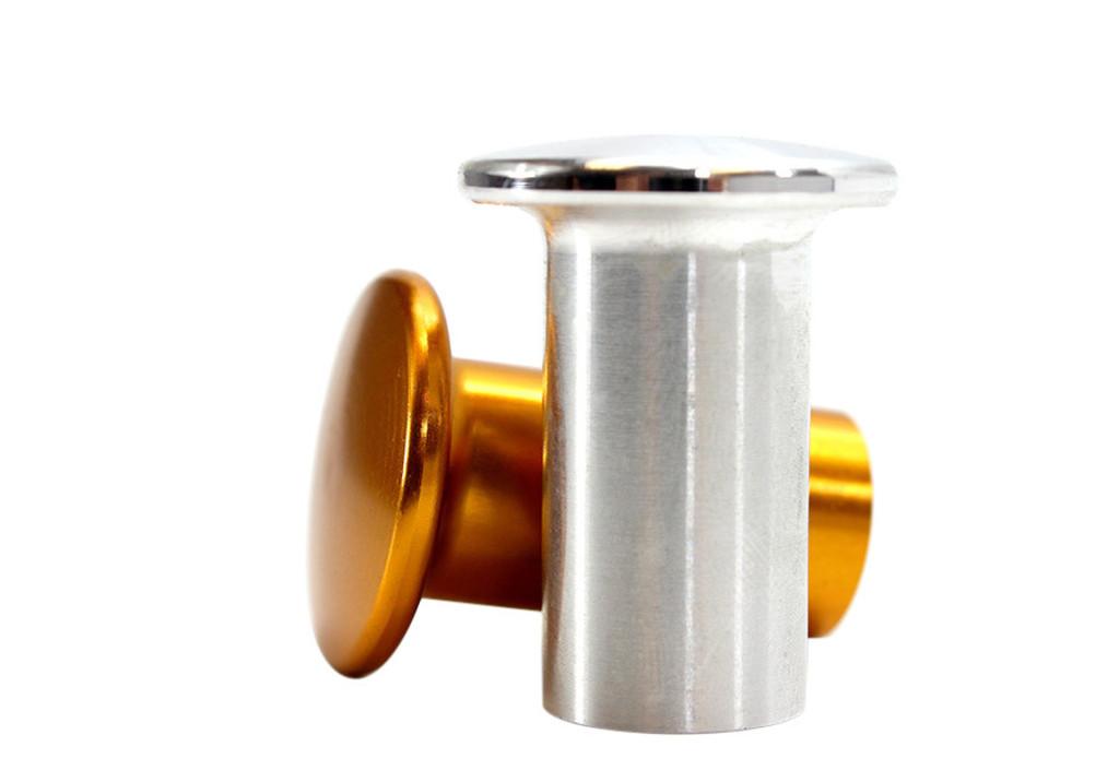 ISR Performance Drift Knob Button - Nissan 240sx - Silver