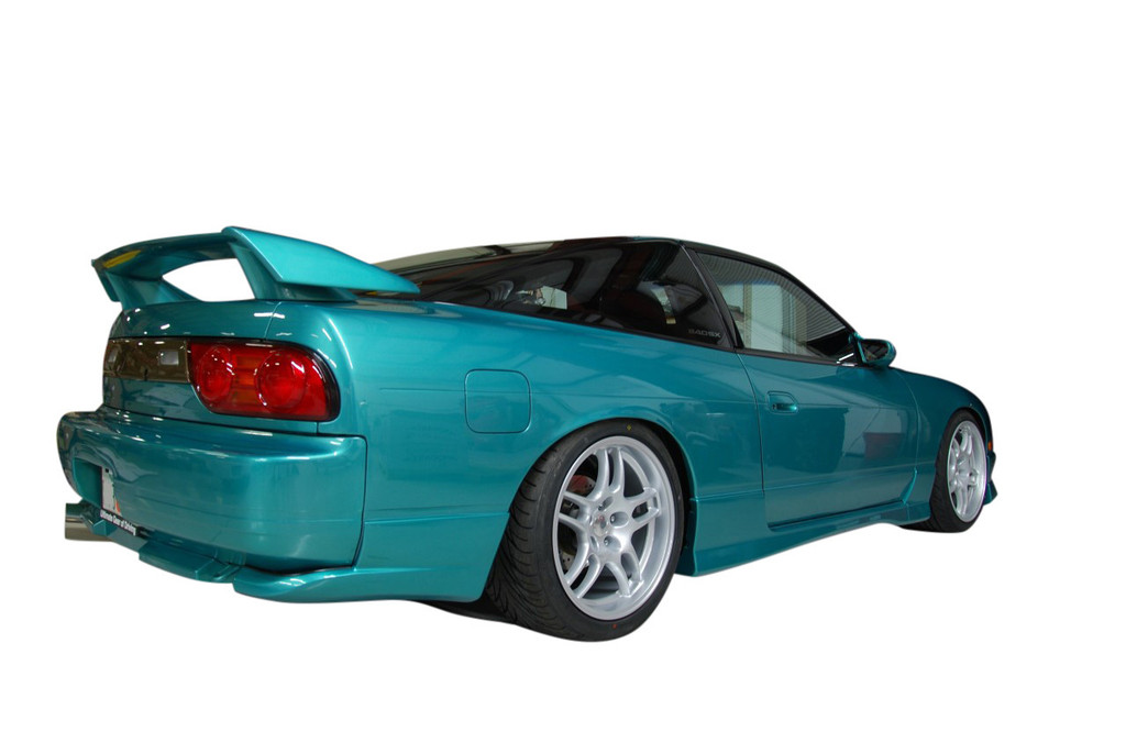 Square G33 wheels on Nissan 240sx