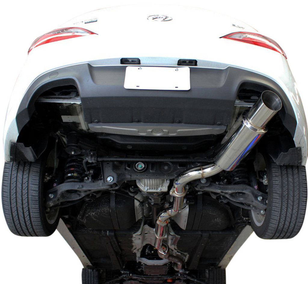 ISR Performance GT Single exit exhaust system for Hyundai Genesis Coupe 3.8 presented by Ace Up Motorsports