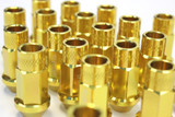 SQUARE Aluminum 7075 Type-2 Lug Nuts M12X1.25 - GOLD