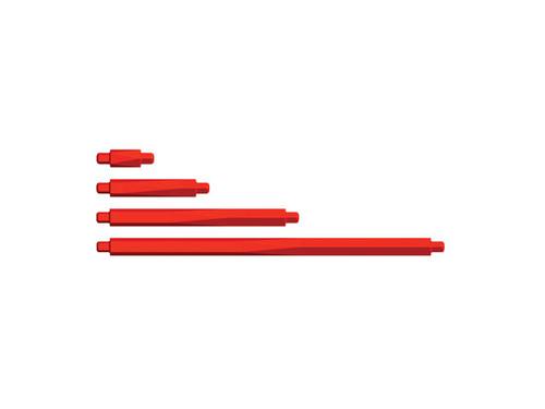 Bulk Red Struts