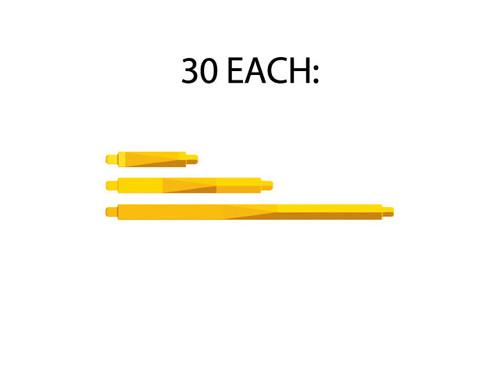 30 of each  length of yellow strut (Y0, Y1, Y2)