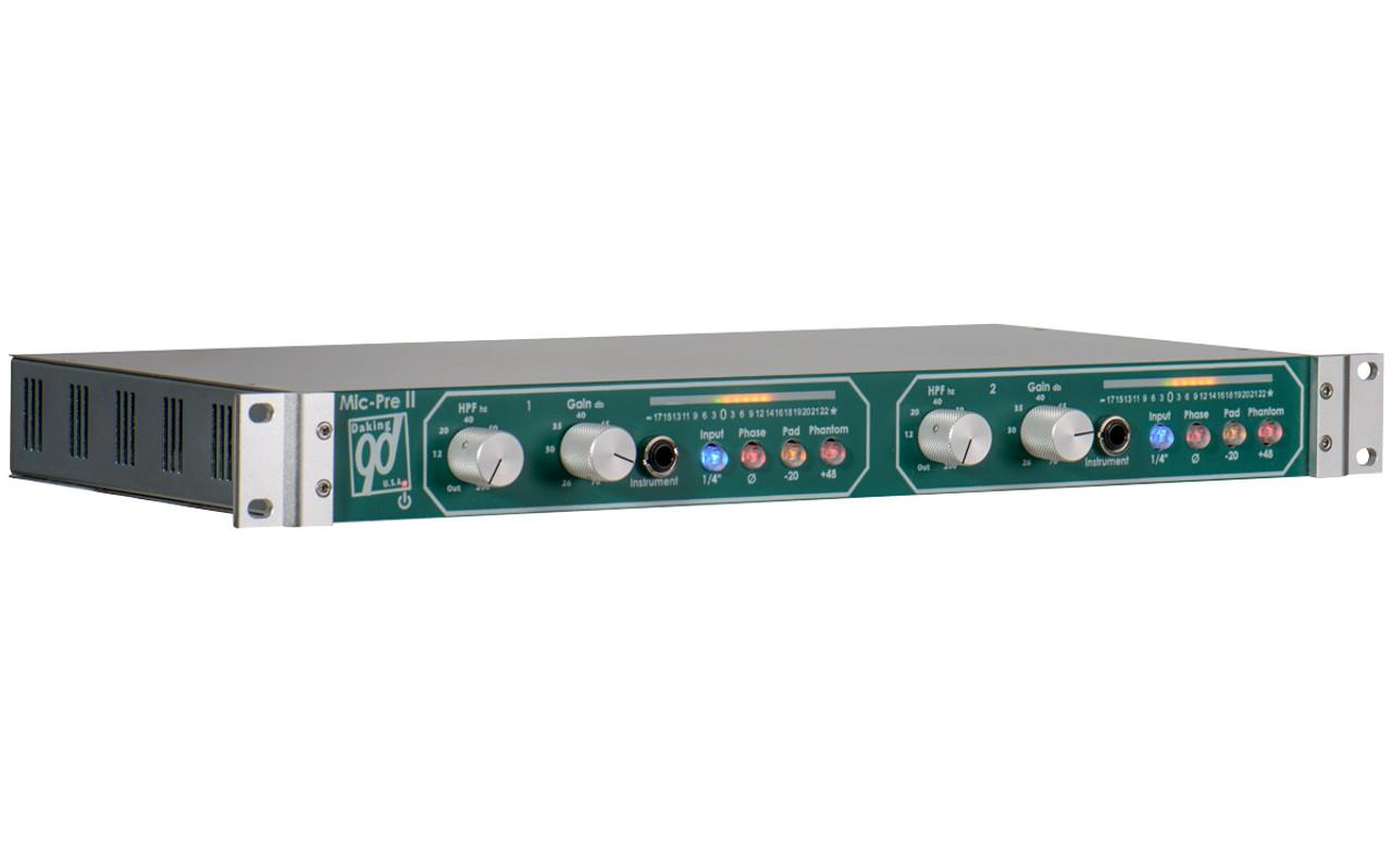 Daking Pro Audio Mic Pre II 2 Channel Dual Mono Microphone Preamp