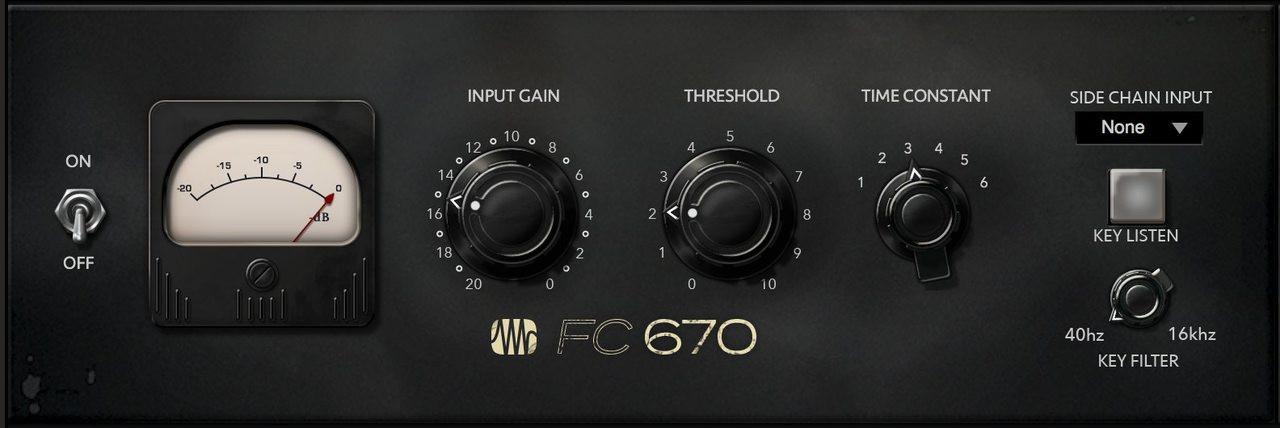 PreSonus FAT FC670 Iconic Compressor/Limiter of the 1950s [Plug-In]