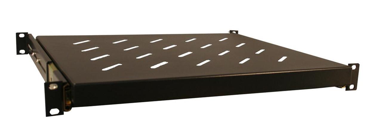 Black, 13.8-Inch Deep Gator Cases 1U Sliding Shelf