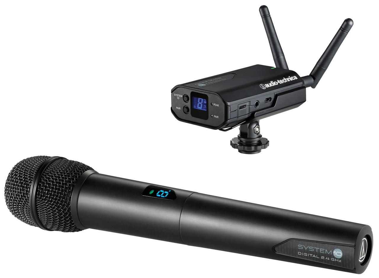 Audio-Technica System-10 ATW-R1700 Receiver & ATW-T1002 Handheld  Transmitter System