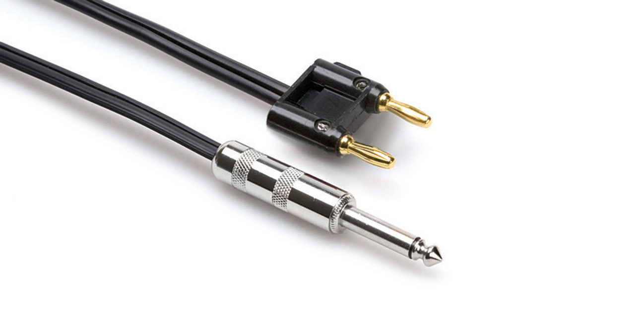 Hosa Speaker Cable 14 In Ts To Dual Banana Lunchbox Audio