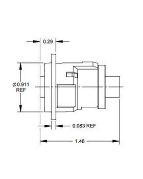 Switchcraft EH Series, 6 Pin DIN feedthru for PS/2 Connections on 4 pin usb, 4 pin power, 4 pin plug, 4 pin dip, 4 pin mic, 4 pin xlr, 4 pin connector, 4 pin molex,
