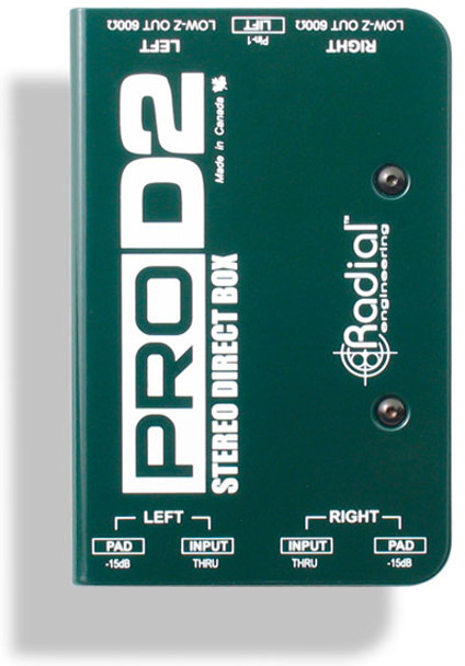 Radial Engineering Pro-D2 Stereo Passive Direct Box
