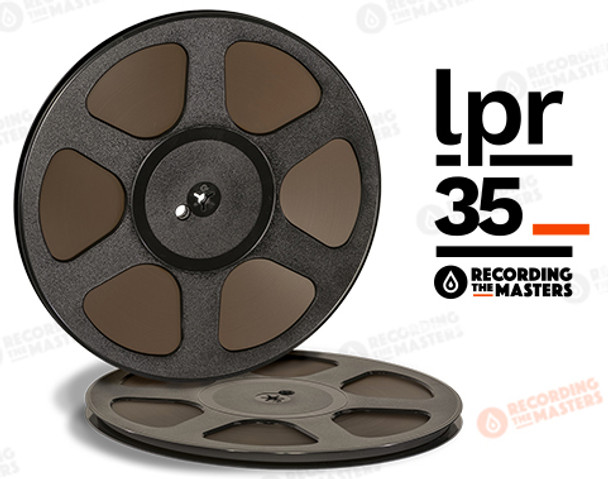 "RTM 34512 - LPR-35 1/4"" x 3600' Analog Tape - 10.5"" Trident Plastic Reel + Box"
