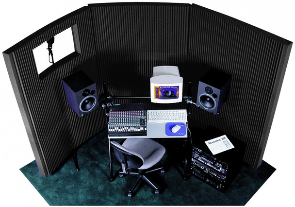 Auralex MAX-Wall 831 8x Charcoal Panels, 3x MW Stands & 1 Window Kit