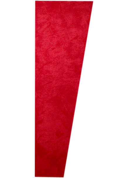 "Auralex 1"" x 16"" x 48"" Red SonoSuede Trapezoid Panel, Right"