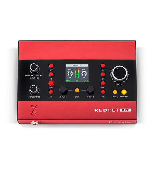 Focusrite RedNet X2P 2x2 Dante Interface w/2 Mic Pres & Headphone Out