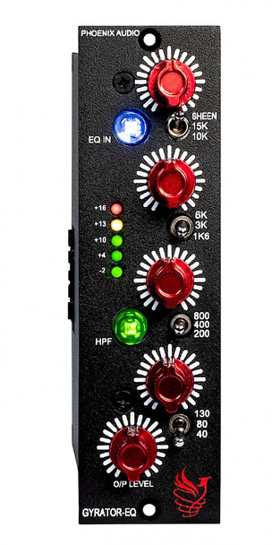 Phoenix Audio Gyrator-EQ/500 - Mono Class-A Discrete 4 Band EQ