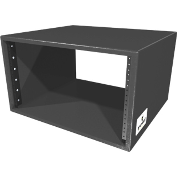 "Grundorf RSB-06D-B Studio Rack Shell - 6 Space - 17.5"" Depth - Black"