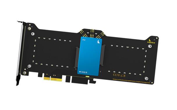 Angelbird WINGS X2 - 2X SATA3 6GB/S Expandable PCIE RAID Adapter