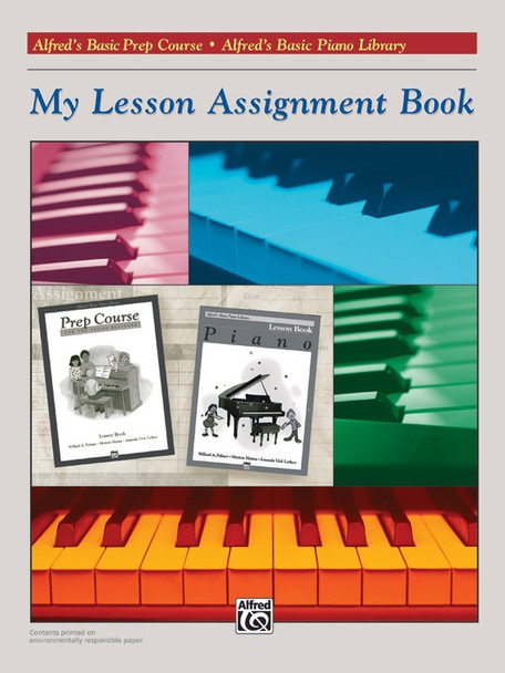 Alfred's Basic Piano Course: My Lesson Assignment Book