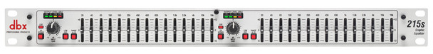 DBX 215s Dual Channel 15-Band Equalizer - Front