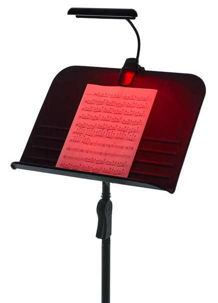 Gator Frameworks Clip-on Red LED Music Lamp with Adjustable Neck