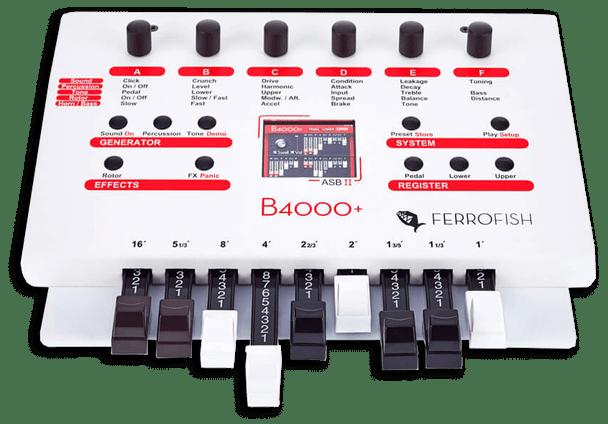 Ferrofish B4000+ Pocket Size Emulation of The Legendary Hammond B3