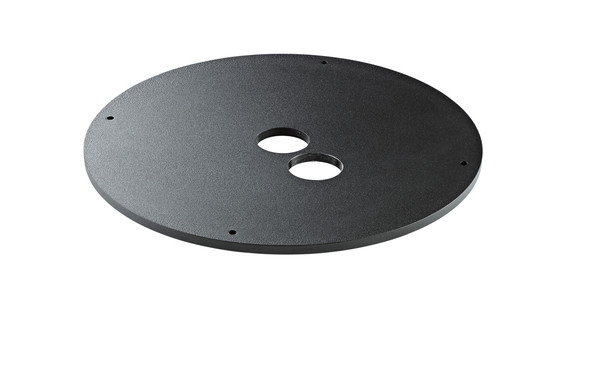 K&M 26709 Weight Plate for M20 Base - 5 Kg in Structured Black