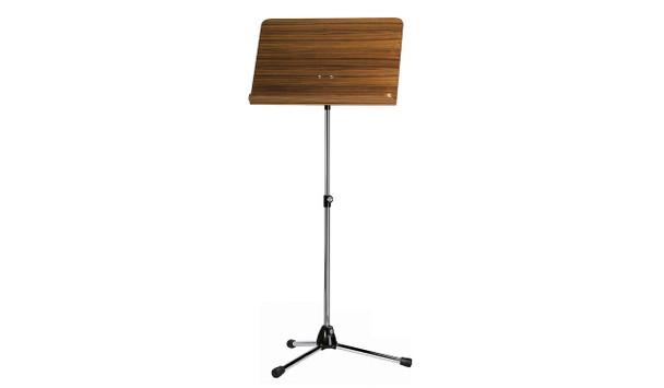 Konig & Meyer 118/1 Orchestra Music Stand W/ Black Stand & Walnut Wooden Desk