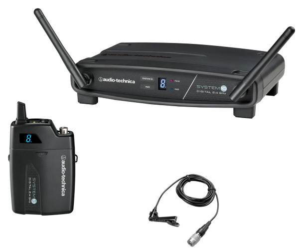 Audio-Technica System-10 ATW-R1100 Receiver, ATW-T1001 UniPak Transmitter System & MT830cW Lavalier Mic