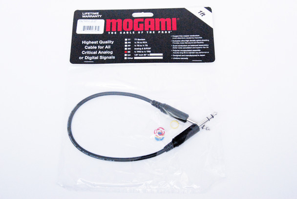 """Mogami Pure Patch Hi-Definition Patch Cable, Molded 1/4"""" TRS to Same"""