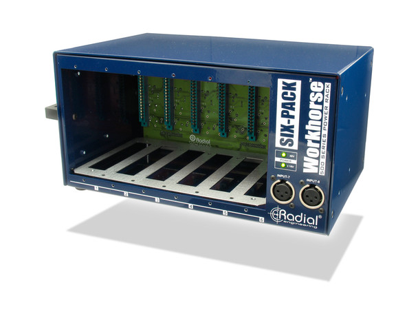 Radial Engineering Workhorse Six Pack 6-Slot 500 Series Power Rack