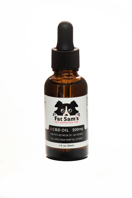 200mg Fat Sam's CBD Oil for Pets (20-60lbs)