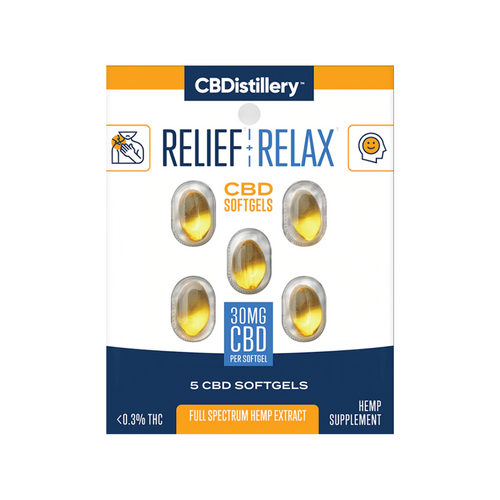 Travel Size: 30mg CBD Softgels Full Spectrum