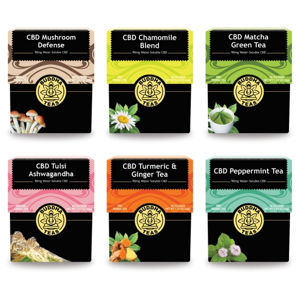 Can't decide which CBD Buddha Teas to try first? Try all six for one great price.