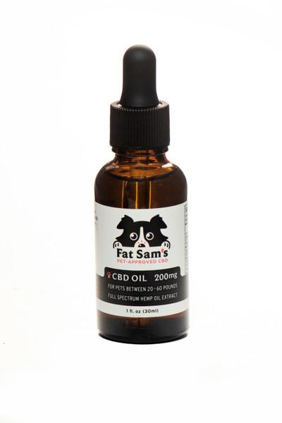 200mg Fat Sam's CBD Oil for Pets (20-60lbs)