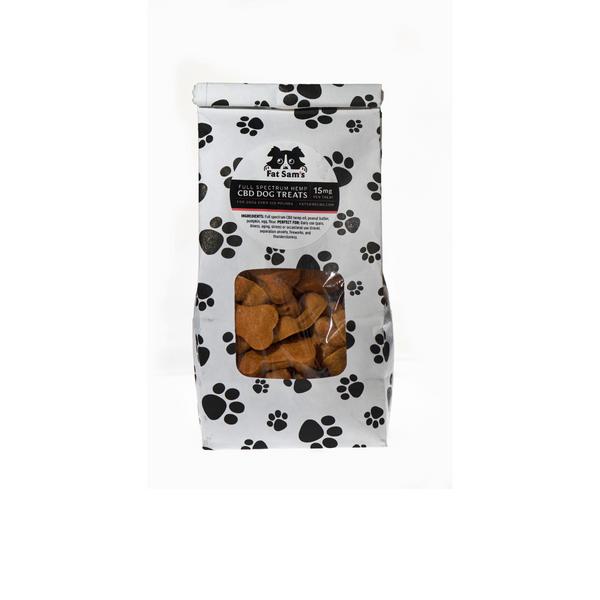 3 Dozen 15mg Fat Sam's Pumpkin Peanut Butter CBD Dog Treats. For dogs over 100  pounds.