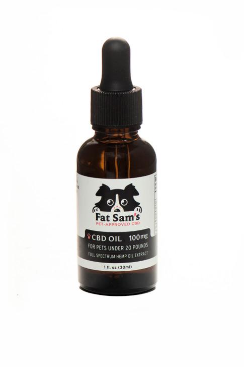 100mg Fat Sam's CBD Oil for Pets (under 20lbs)