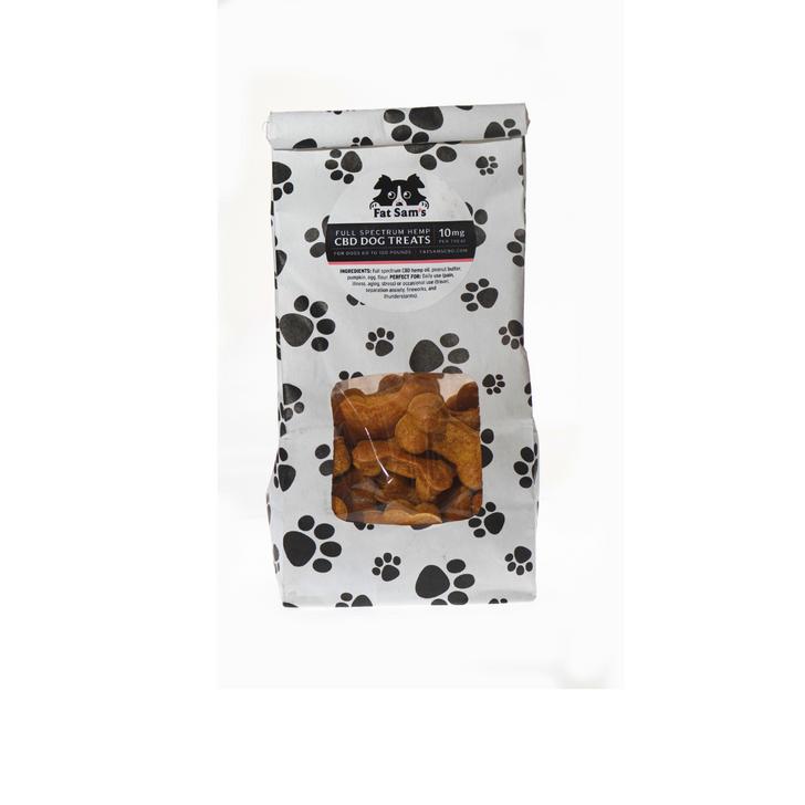 3 Dozen 10mg Fat Sam's Pumpkin Peanut Butter CBD Dog Treats. For dogs 60 to 100  pounds.