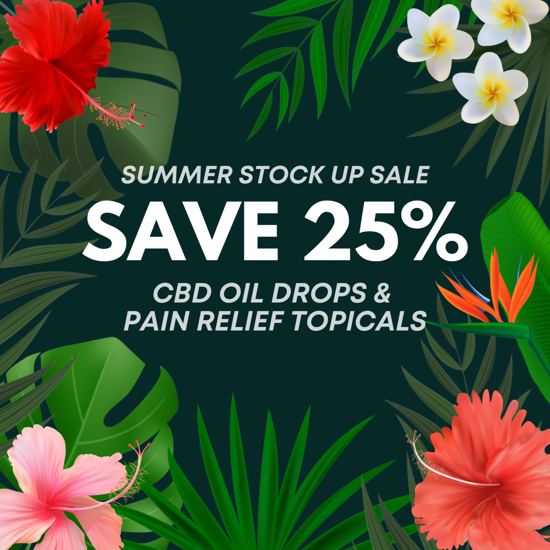 Stock up sale on all CryBaby CBD Oils and Pain Relief Topicals