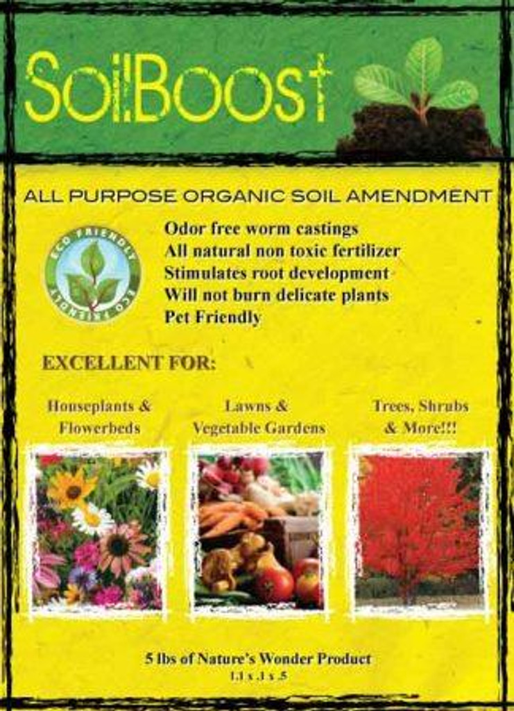 SoilBoost, Pure Worm Cast Label