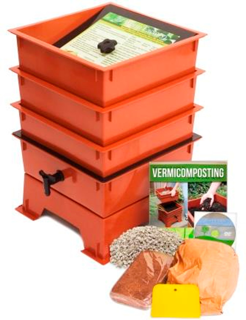 Worm Factory Standard 3 Tray Package, Terra Cotta