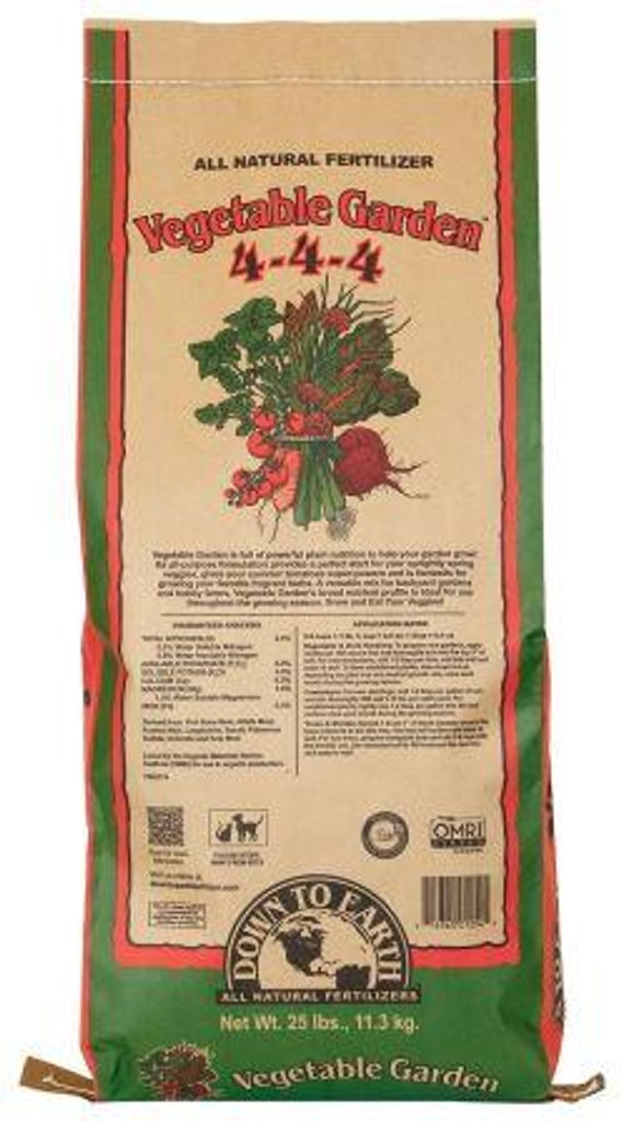 DTE Vegetable Garden Mix, 25lbs