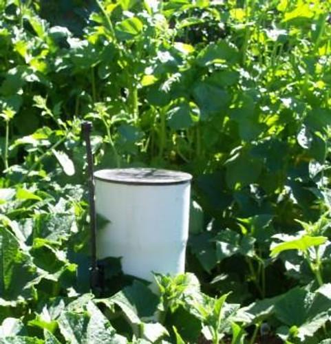 Garden Worm Composting Tube in the Garden