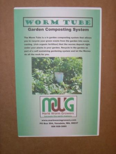 Garden Worm Composting Tube Label