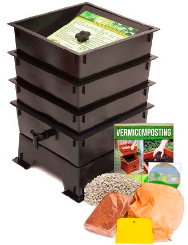 Worm Factory Standard 3 Tray Package, Black