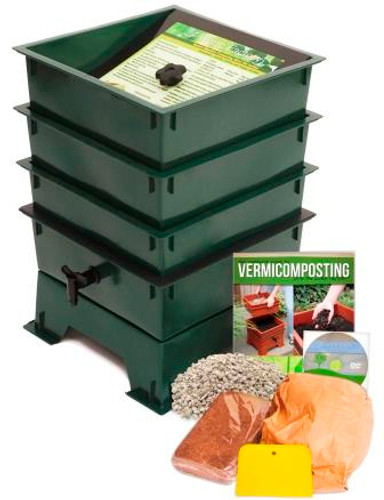 Worm Factory Standard 3 Tray Package, Green