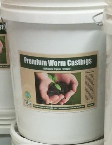 Premium Worm Castings, 5-Gallon Bucket