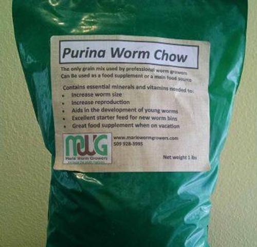 Worm Chow, 1lb Bag