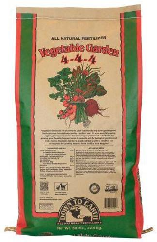 DTE Vegetable Garden Mix, 4-4-4, 50lbs