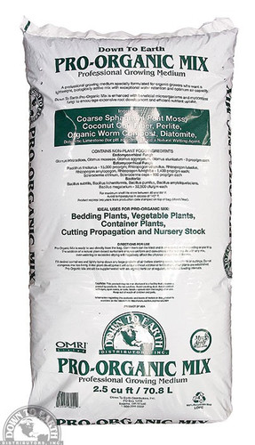 DTE Pro-Organic Potting Mix, 2.5 CF Bag