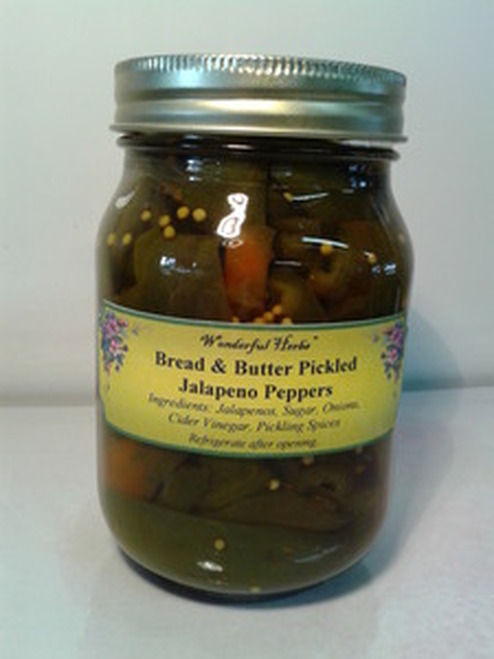 Bread & Butter Jalapeno Peppers