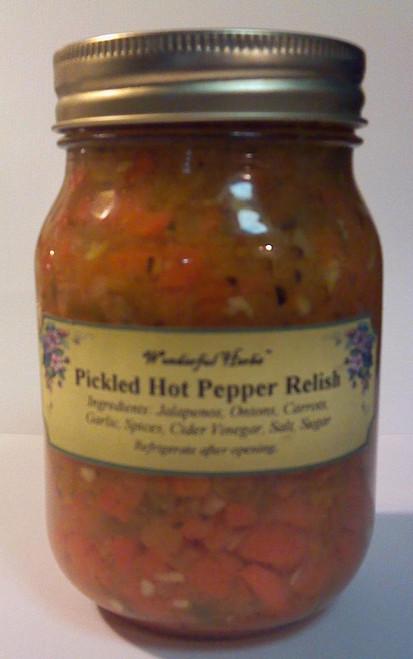 Pickled Hot Pepper Relish
